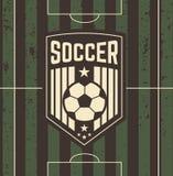 Εκλεκτής ποιότητας σημάδι ποδοσφαίρου στον τομέα Στοκ φωτογραφία με δικαίωμα ελεύθερης χρήσης