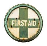 Εκλεκτής ποιότητας σημάδι πρώτων βοηθειών στοκ φωτογραφία με δικαίωμα ελεύθερης χρήσης