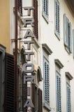 Σημάδι Trattoria στην Ιταλία Στοκ Εικόνα
