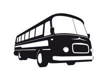 Εκλεκτής ποιότητας σκιαγραφία λεωφορείων Στοκ Φωτογραφία