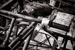 Εκλεκτής ποιότητας σκουριασμένο παλαιό Handlebar ποδηλάτων παράδοσης Στοκ εικόνα με δικαίωμα ελεύθερης χρήσης