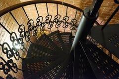Εκλεκτής ποιότητας σπειροειδής σκάλα Στοκ Φωτογραφίες