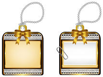 Εκλεκτής ποιότητας στιλπνό χρυσό σχέδιο διακριτικών εικονιδίων locket, χρώμιο ελεύθερη απεικόνιση δικαιώματος