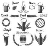 Εκλεκτής ποιότητας στοιχεία σχεδίου μπύρας τεχνών διανυσματική απεικόνιση