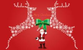 Εκλεκτής ποιότητας στοιχεία Χριστουγέννων, τάρανδος με το υπόβαθρο σχεδίων Στοκ εικόνες με δικαίωμα ελεύθερης χρήσης