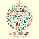 Εκλεκτής ποιότητας στοιχεία Χριστουγέννων Στοκ Εικόνα