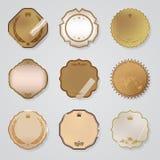 Εκλεκτής ποιότητας συλλογή ετικετών - 9 στοιχεία σχεδίου με Στοκ Φωτογραφία