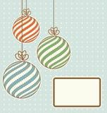 Εκλεκτής ποιότητας σφαίρες Χριστουγέννων διανυσματική απεικόνιση