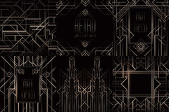 Εκλεκτής ποιότητας σχέδια του Art Deco και στοιχεία σχεδίου Αναδρομικό κόμμα geome Στοκ φωτογραφίες με δικαίωμα ελεύθερης χρήσης