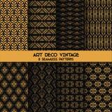 Εκλεκτής ποιότητας σχέδια του Art Deco Στοκ Εικόνες