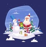 Εκλεκτής ποιότητας σχέδιο αφισών Χριστουγέννων με Άγιο Βασίλη Στοκ φωτογραφία με δικαίωμα ελεύθερης χρήσης