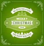 Εκλεκτής ποιότητας σχέδιο ευχετήριων καρτών Χριστουγέννων Στοκ εικόνα με δικαίωμα ελεύθερης χρήσης