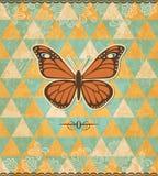 Εκλεκτής ποιότητας σχέδιο μωσαϊκών πεταλούδων ελεύθερη απεικόνιση δικαιώματος