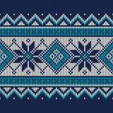 Εκλεκτής ποιότητας σχέδιο πουλόβερ πλεκτό πρότυπο άνευ ραφής Στοκ Εικόνες
