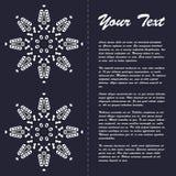 Εκλεκτής ποιότητας σχέδιο προτύπων φυλλάδιων ύφους με στοιχεία και τη διακόσμηση σύγχρονης τέχνης τα ανατολικά Στοκ εικόνα με δικαίωμα ελεύθερης χρήσης