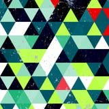 Εκλεκτής ποιότητας σχέδιο τριγώνων Γεωμετρικό αναδρομικό υπόβαθρο hipster με τη θέση για το κείμενό σας αναδρομικό τρίγωνο ανασκό Στοκ Εικόνες