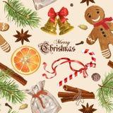 Εκλεκτής ποιότητας σχέδιο Χριστουγέννων Στοκ Εικόνα