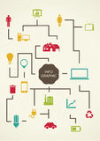 Εκλεκτής ποιότητας σχέδιο infographics proces. Στοκ Φωτογραφία