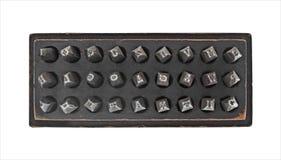 Εκλεκτής ποιότητας σύνολο διατρήσεων γραμματοσήμων μετάλλων Στοκ φωτογραφίες με δικαίωμα ελεύθερης χρήσης