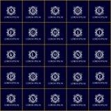 Εκλεκτής ποιότητας σύνολο λογότυπων μόδας διανυσματικό Ταυτότητα εμπορικών σημάτων για το εστιατόριο, ξενοδοχείο Μπουτίκ, κατάστη Στοκ φωτογραφία με δικαίωμα ελεύθερης χρήσης