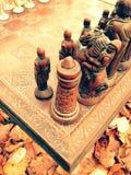 Εκλεκτής ποιότητας σύνολο σκακιού Στοκ Εικόνα