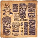 Εκλεκτής ποιότητας σύνολο Aloha Tiki Στοκ Φωτογραφίες