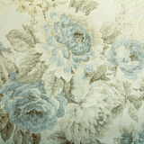 Εκλεκτής ποιότητας ταπετσαρία με το μπλε floral βικτοριανό σχέδιο Στοκ Εικόνες