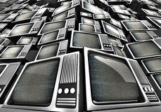 Εκλεκτής ποιότητας τηλεοπτικός σωρός. Στοκ φωτογραφία με δικαίωμα ελεύθερης χρήσης