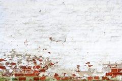 Εκλεκτής ποιότητας τούβλινος τοίχος με το ξεφλουδισμένο ασβεστοκονίαμα Στοκ φωτογραφία με δικαίωμα ελεύθερης χρήσης