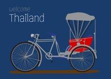 Εκλεκτής ποιότητας τρίκυκλο, Ταϊλάνδη Στοκ Φωτογραφίες
