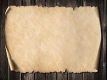 Εκλεκτής ποιότητας τρισδιάστατη απεικόνιση περγαμηνής ή χαρτών Στοκ Φωτογραφία