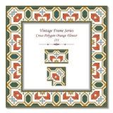Εκλεκτής ποιότητας τρισδιάστατο πλαίσιο 211 διαγώνιο πορτοκαλί λουλούδι πολυγώνων απεικόνιση αποθεμάτων