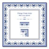Εκλεκτής ποιότητας τρισδιάστατο πλαίσιο 334 μπλε κύκλος καμπυλών Στοκ φωτογραφίες με δικαίωμα ελεύθερης χρήσης