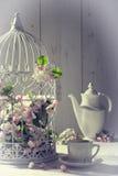 Εκλεκτής ποιότητας τσάι απογεύματος Στοκ φωτογραφίες με δικαίωμα ελεύθερης χρήσης