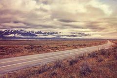 Εκλεκτής ποιότητας τυποποιημένος φυσικός δρόμος στο μεγάλο εθνικό πάρκο Teton, W Στοκ Εικόνα