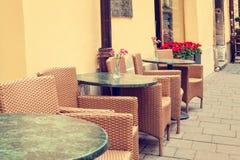 Εκλεκτής ποιότητας υπαίθριο εστιατόριο Στοκ εικόνα με δικαίωμα ελεύθερης χρήσης