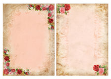 Εκλεκτής ποιότητας υπόβαθρα με τα τριαντάφυλλα Στοκ Φωτογραφίες