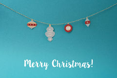Εκλεκτής ποιότητας υπόβαθρο εγγράφου διακοσμήσεων Χαρούμενα Χριστούγεννας Στοκ Φωτογραφία