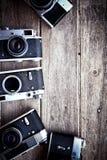 εκλεκτής ποιότητας υπόβαθρο καμερών Στοκ φωτογραφίες με δικαίωμα ελεύθερης χρήσης