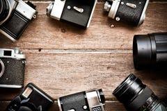 εκλεκτής ποιότητας υπόβαθρο καμερών Στοκ Εικόνες