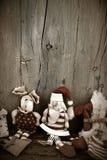 Εκλεκτής ποιότητας υπόβαθρο καρτών Santa Χριστουγέννων Στοκ Φωτογραφία