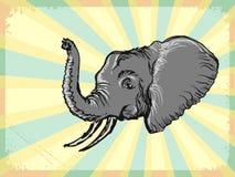 Εκλεκτής ποιότητας υπόβαθρο με τον ελέφαντα Στοκ εικόνα με δικαίωμα ελεύθερης χρήσης