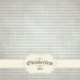 εκλεκτής ποιότητας υπόβαθρο με το ελεγμένο σχέδιο για Oktoberfest 2015 Στοκ φωτογραφία με δικαίωμα ελεύθερης χρήσης