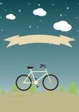 Εκλεκτής ποιότητας υπόβαθρο με το ποδήλατο και θέση για το κείμενό σας στο β Στοκ εικόνες με δικαίωμα ελεύθερης χρήσης