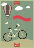 Εκλεκτής ποιότητας υπόβαθρο με το ποδήλατο και θέση για το κείμενό σας Στοκ Εικόνα