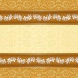 Εκλεκτής ποιότητας υπόβαθρο με το floral άνευ ραφής σχέδιο Στοκ Εικόνες