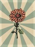 Εκλεκτής ποιότητας υπόβαθρο με floral κινητήριο Στοκ φωτογραφίες με δικαίωμα ελεύθερης χρήσης