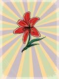 Εκλεκτής ποιότητας υπόβαθρο με floral κινητήριο Στοκ εικόνα με δικαίωμα ελεύθερης χρήσης