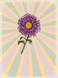 Εκλεκτής ποιότητας υπόβαθρο με floral κινητήριο Στοκ εικόνες με δικαίωμα ελεύθερης χρήσης