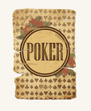 Εκλεκτής ποιότητας υπόβαθρο πόκερ χαρτοπαικτικών λεσχών, διάνυσμα Στοκ φωτογραφίες με δικαίωμα ελεύθερης χρήσης